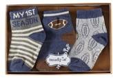 Mud Pie Infant My First Season Three-Piece Football Sock Set