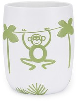 Kassatex Jungle Wastebasket White