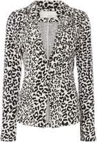Oui Leopard print blazer