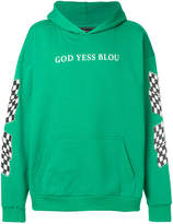 Paura God Yess Blou hoodie
