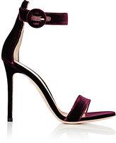 Gianvito Rossi Women's Portofino Ankle-Strap Sandals-BURGUNDY