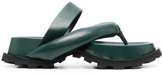 Jil Sander Padded-Strap Flip Flops