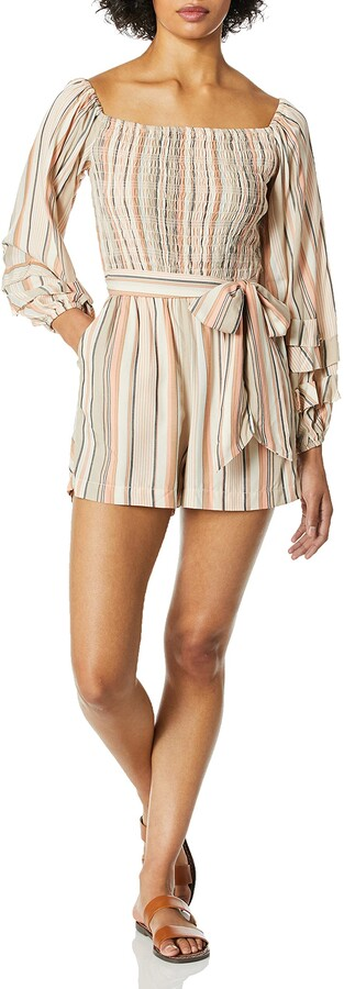 Thumbnail for your product : Ella Moss Women's Lory Off The Shoulder Romper