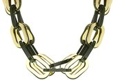 Fallon Chunky Chains Spiced Link Bib Brass Necklace of Length 54.5 cm