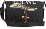 Loewe Mushroom-print leather messenger bag