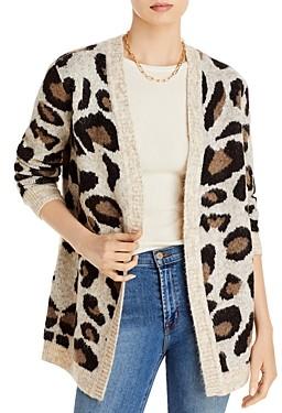 Aqua Leopard Open-Front Cardigan - 100% Exclusive
