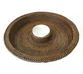 Southern Living Woven Nito & Ceramic Chip & Dip Server