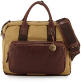 Will Leather Goods Lewis Canvas & Leather Briefcase