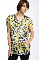 Mural Printed Silk Tunic