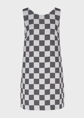 Emporio Armani Checkerboard Cady Sheath Dress