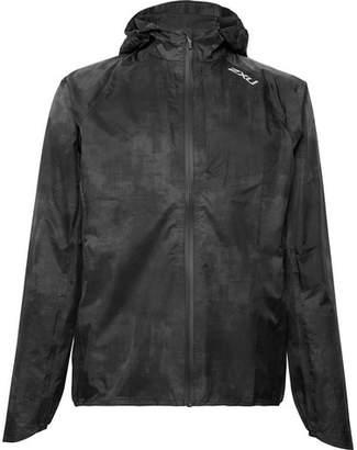 2XU Pursuit Ac Printed Waterproof Nylon Hooded Jacket