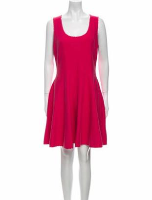 Christian Dior Scoop Neck Knee-Length Dress Pink