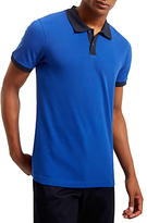Jaeger Short Sleeve Polo Top, Blue