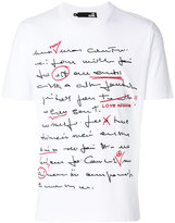 Love Moschino handwriting print T-shirt - men - Cotton - XL