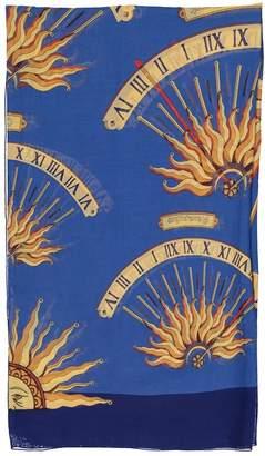 Hermes Blue Cotton Scarves