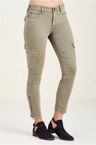 True Religion Halle Super Skinny Cargo Womens Jean