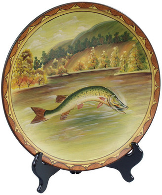 Fish Plate and Plate Stand