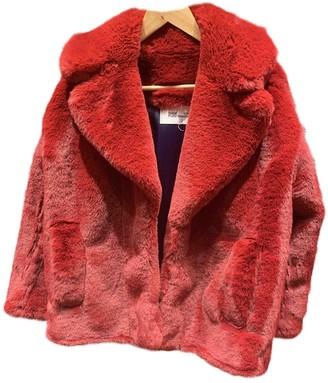 Diane von Furstenberg Burgundy Faux fur Coats