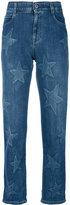 Stella McCartney Boyfriend Cotton Jeans With Stars