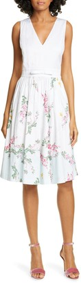 Ted Baker Reyyne Bow Detail Sleeveless Stretch Cotton Dress
