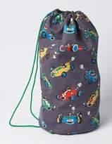 Printed Drawstring Bag London Grey Speedy Sprout Boys Boden