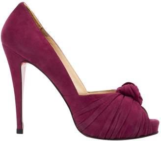 Christian Louboutin \N Pink Suede Heels