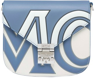 MCM Patricia Contrast Logo Shoulder Bag