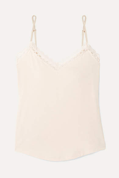 2c3dd498b3f Malia Lace-trimmed Stretch-modal Jersey Camisole - Ecru