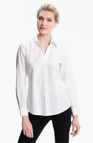Foxcroft Petite Women's Non-Iron Fitted Shirt