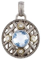 Judith Ripka Diamond & Blue Quartz Pendant