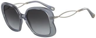 Chloé 56mm Oversized Sunglasses
