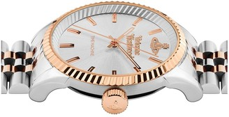 Vivienne Westwood Seymour Silver Sunray and Rose Gold Detail Dial Two Tone Stainless Steel Jubilee Bracelet Watch
