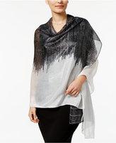 Calvin Klein Printed Metallic Wrap & Scarf in One