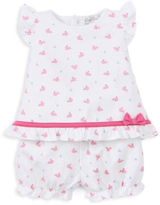Kissy Kissy Baby Girl's Whale-Print Tee & Shorts Set