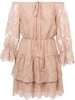 Alice + Olivia Alice+Olivia - crocheted off the shoulder dress - women - Polyester/Spandex/Elastane - 0