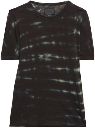 RtA Tie-dyed Cotton And Cashmere-blend T-shirt