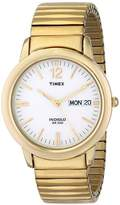 Timex Men's T21942 Chambers Street -Tone Stainless Steel Expansion Band Watch