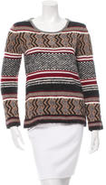 Maje Patterned Metallic-Accented Sweater
