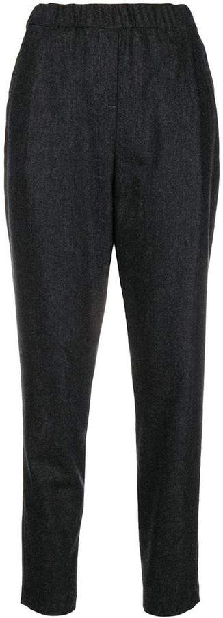 Fabiana Filippi elasticated waistband tapered trousers