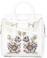 Alexander McQueen Heroine floral embroidered tote - women - Silk/Viscose/Leather/Crystal - One Size