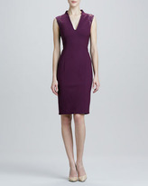 Rachel Roy Crepe Dress with Lace Cap Sleeves