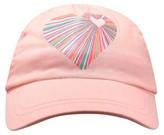Circo Toddler Girls' Heart Print Baseball Hat Pink