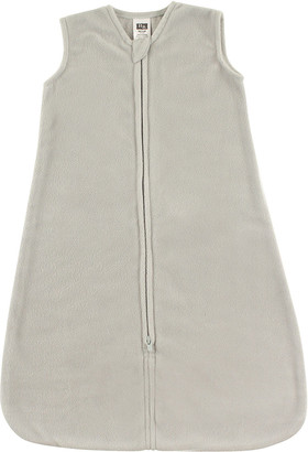Hudson Baby Infant Sleeping Sacks Solid - Light Gray Fleece Wearable Blanket - Newborn & Infant