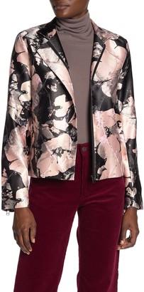 DOLCE CABO Floral Jacquard Moto Jacket