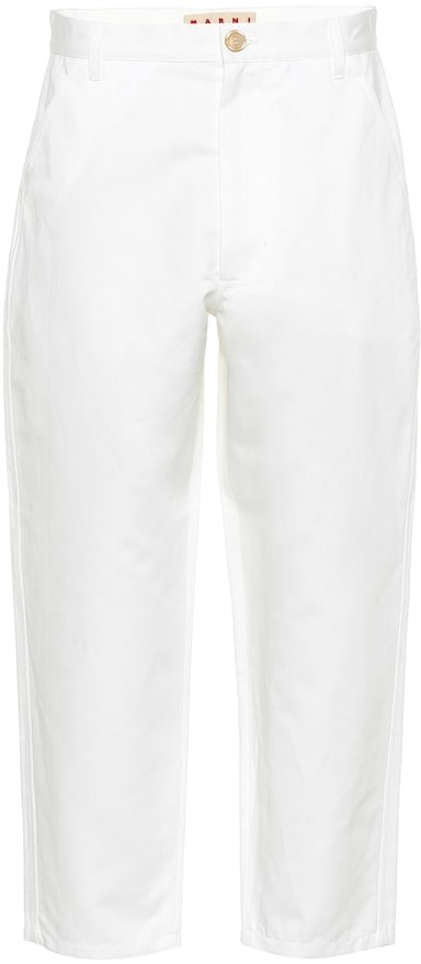 Marni Cotton and linen cropped pants
