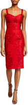 Dress the Population Jaida Floral Embroidered Sweetheart Sheath Dress