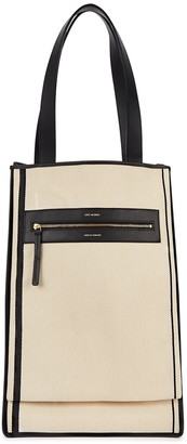 Lutz Morris Cream Canvas And Leather Tote