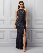 Le Château Sparkle Lace Halter Neck Gown