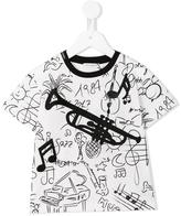 Dolce & Gabbana musical instrument print T-shirt - kids - Cotton/Polyester/Viscose - 36 mth