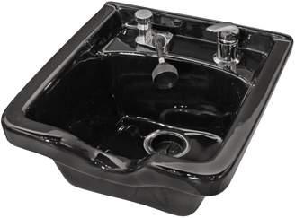 Jeff & Co. Jeffco Black Porcelain Sidewash Bowl